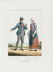 Een boer en boerin uit de omgeving Leiden