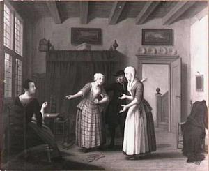 Scène uit de comedie Jan Klaasz. of de gewaande dienstmaagd van Th. Asselijn