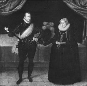 Portret van koning Frederik II (1534-1588) van Denemarken en zijn vrouw koningin Sophie van Mecklenburg (1557-1631)