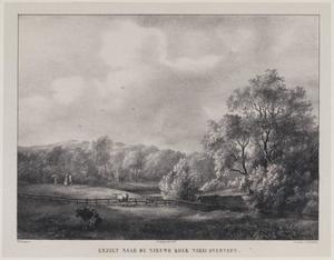 Landschap met waterplas de Nieuwe Kolk bij Overveen