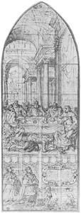Christus in het huis van Simon de farizeër (Johannes 12:1-8), en vermoedelijke portretten van Jean de Ligne, Hertog van Arenberg, en diens echtgenote