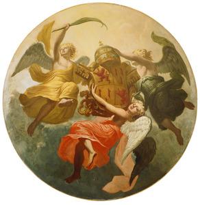 Drie engelen met het pauselijk wapen van Adrianus VI