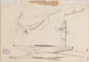 Schets van een roeiboot