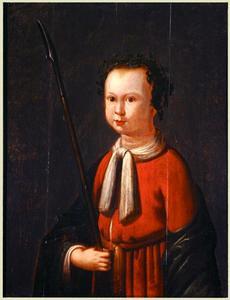 Portret van een jongen als herder