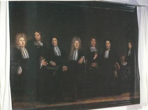 Portret van de regenten van het Burgerweeshuis in Naarden