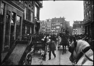 Haarlemmerstraat richting het Singel te Amsterdam