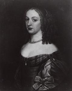 Portret van een vrouw, waarschijnlijk Amalia Margaretha van Brederode