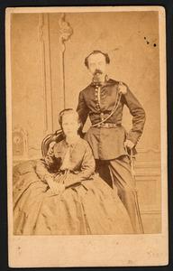 Portret van Adriaan Jan Hendrik van der Mijl Dekker (1837-1892) en Catharina Louisa Bosch (?-?)