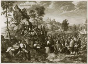 Landschap met de prediking van Johannes de Doper