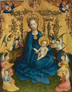 Maria in de rozentuin