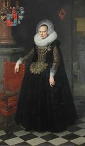 Portret van Margaretha Vos van Vossenburg (1593-1638)