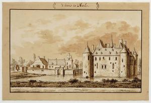 Rechterzijde van kasteel Byland (ook wel Huis Halt) bij Millingen