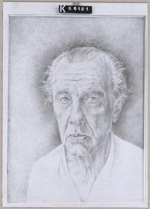 Zelfportret van Wijtze Gerrit Carel Schuhmacher (1894-1986)