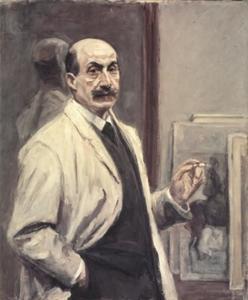 Zelfportret van Max Liebermann (1847-1935)
