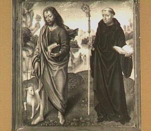 H. Johannes de Doper (links) en H. Benedictus (rechts) in een landschap