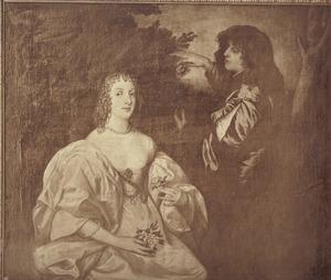 Dubbelportret van Anne Sophia, Countess of Carnarvon (?-1695) en haar broer Philip Herbert, 5th Earl of Pembroke, 2nd Earl of Montgomery (1621–1669)