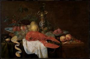 Fruitstilleven met kreeft