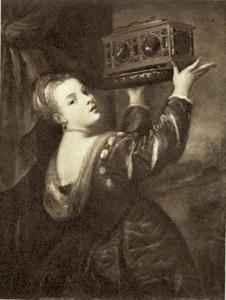 Meisje met een met juwelen gedecoreerde kist (Lavinia)