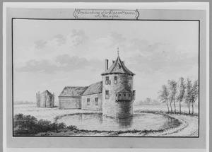 Achterzijde van Brakenburg (ook wel Blauwe Toren) bij Herwijnen