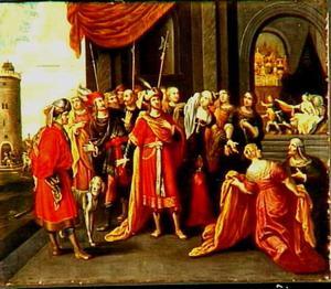 Potifars vrouw beschuldigd Jozef voor haar echtgenoot (Genesis 39:13-18)