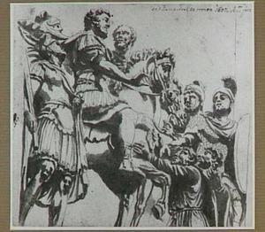 Keizer Marcus Aurelius (161-180 na Chr.) en de barbaren (kopie naar antieke sculptuur)