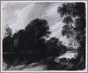 Boomrijk rivierlandschap