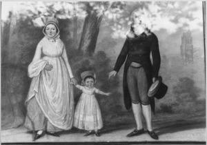 Portret van Hendrik van Tricht (1771-1849), Anna van de Garde (1777-1826) en hun zoon Otto Jan (1799-1846)