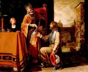 David geeft Uria de brief (2 Samuel 11:14)