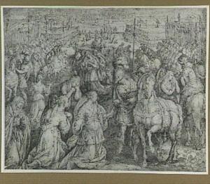 Hersilia beëindigt de strijd tussen de Romeinen en de Sabijnen