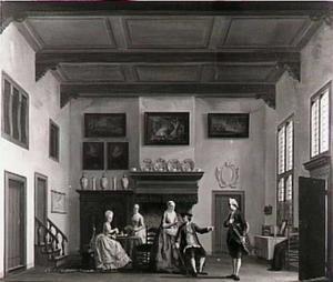De belachelijke jonker (het dertiende toneel (de Burgerkamer) uit dit stuk door P. Bernagie (1684), dat 16 maart 1776 in de Rotterdamsche Schouwburg werd opgevoerd)