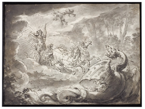 Apollo doodt de Python (Metamorfosen 1:438-451)