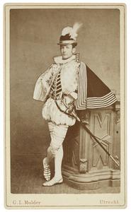 Portret van Maarten Iman Pauw van Wieldrecht (1860-1913) als page
