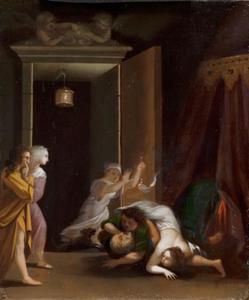 Paris en Helena verrast door Menelaos