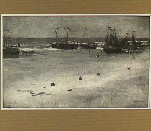 Vissersschepen op het strand