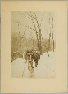 Houthakkers in de winter