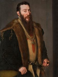 Portret van de Spaanse dichterJan Baptista Castellan (1522-1607)  of de Napolitaanse militair Giovanni Battista di Castaldo (1493- na 1565)