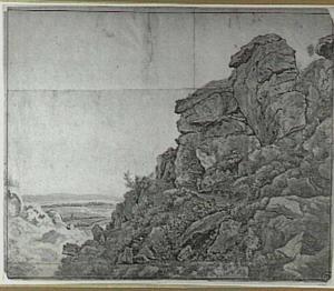 Weids landschap met rotsformatie