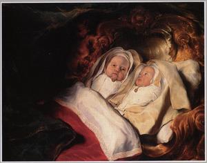 Portret van de tweeling Clara en Albert de Bray (1646-?)