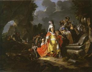 Alexander de Grote bezoekt het graf van Achilles (C.Aelianus, Varia Historia XII,7)