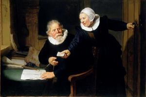 Portret van Jan Rijcksen ( -1637) en zijn vrouw Griet Jans