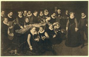 Portret van de familie Hoefnagel
