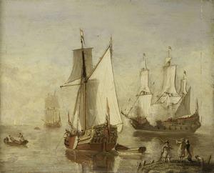 Speeljacht en oorlogsschip