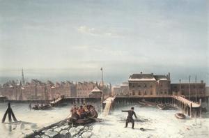 De hachelijke oversteek over het IJ van Amsterdam