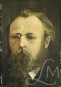 Zelfportret van Jacob Winkler Prins (1849-1906)