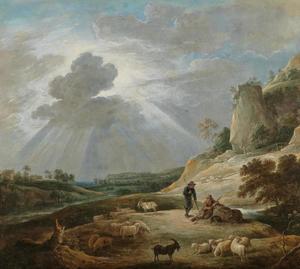 Berglandschap met twee herders