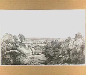 De Rijnpoort te Arnhem, gezien vanaf de stadswal
