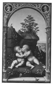 Christus en Johannes de Doper als kinderen