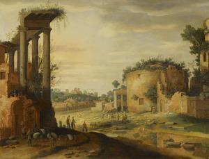 Gefantaseerd gezicht op het Forum Romanum in Rome