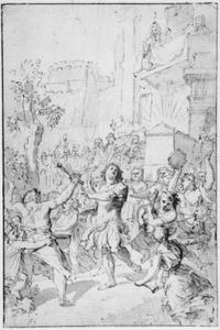David dansend voor de ark des verbonds (2 Samuel 6)