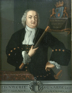 Portret van  Hendrik Swaardecroon, Gouverneur-generaal van Nederlands-Indië (1718-1725)
